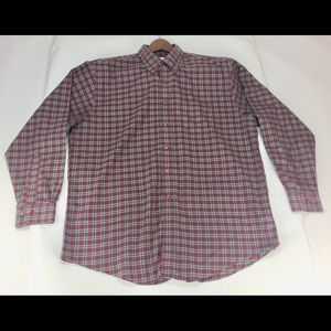 Brooks Brothers 346 Long Sleeve Red Plaid Size XL
